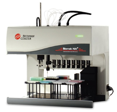 Figure 1A. Beckman Coulter Biomek NXP sample preparation workstation.