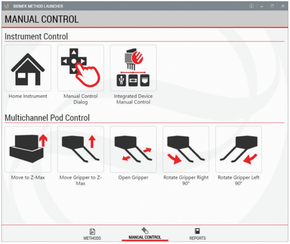 Figure 3. Manual Control can be run through the launcher interface