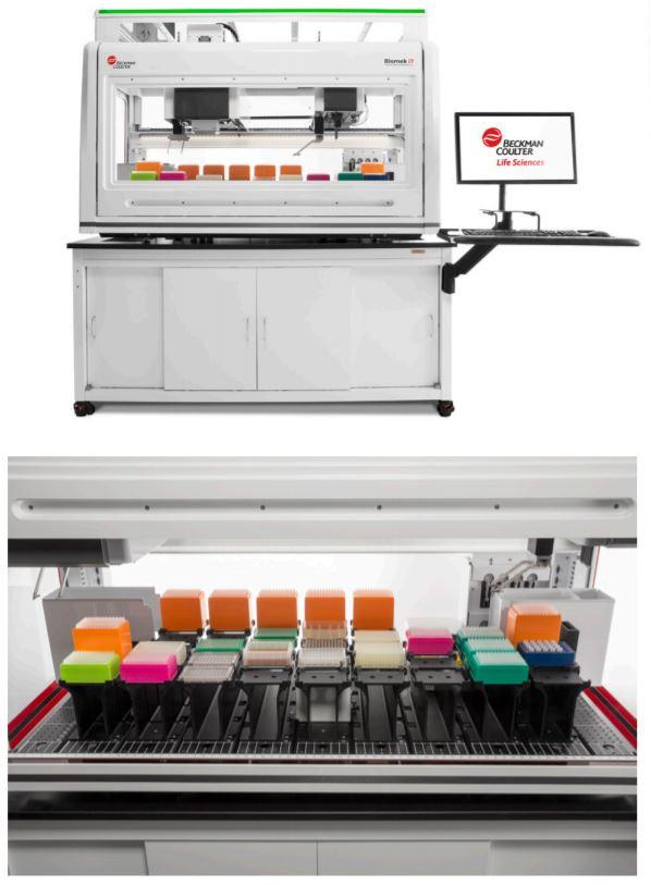 The Biomek i7 Hybrid (Multichannel, Span-8) Genomics Workstation