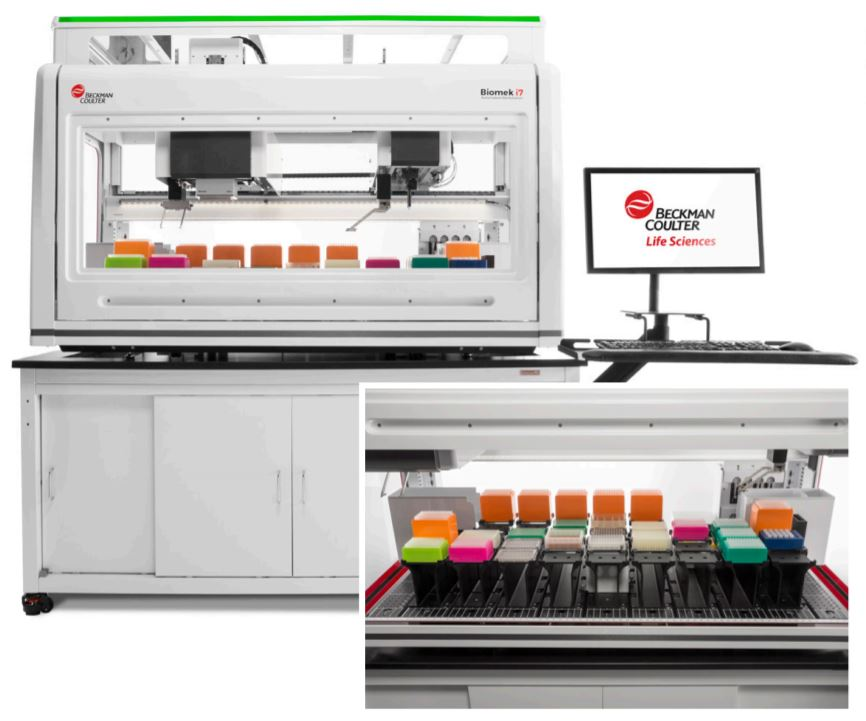 Biomek i7 Dual Hybrid (Multichannel 96, Span-8) Genomics Workstation