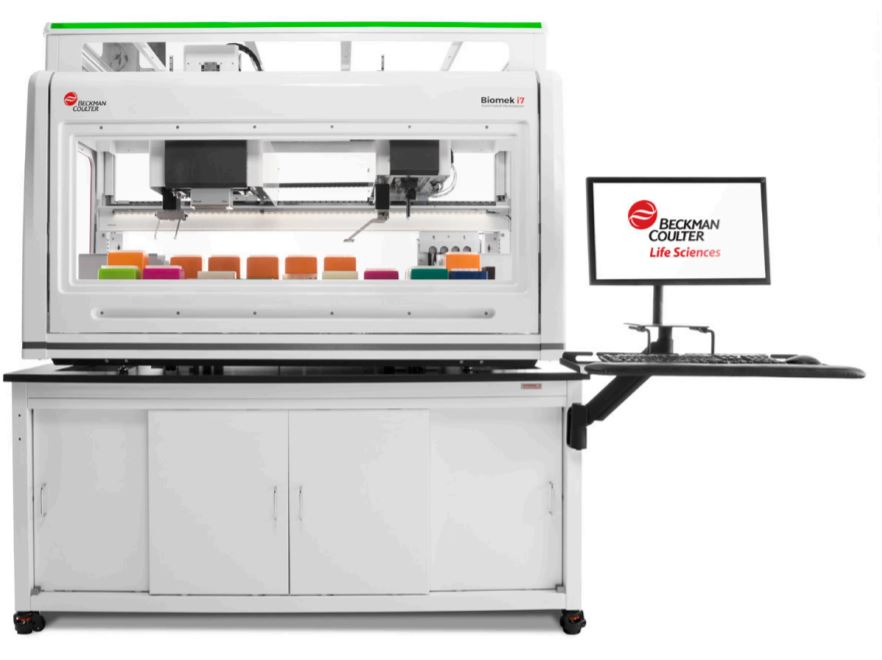 Biomek i7 Dual Hybrid (Multichannel 96, Span-8) Genomics Workstation System