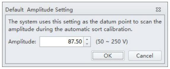 Default Amplitude Setting