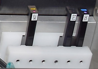 CytoFLEX spare rack securely stores extra bandpass filters when not in use