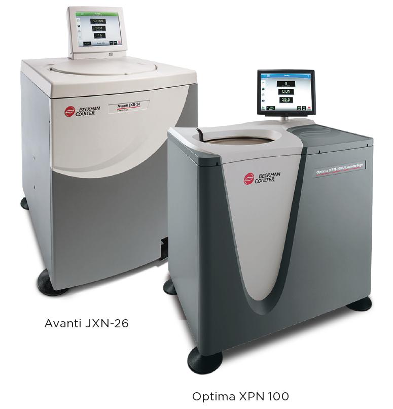 Beckman Coulter Avanti JXN-26 and Optima XPN 100