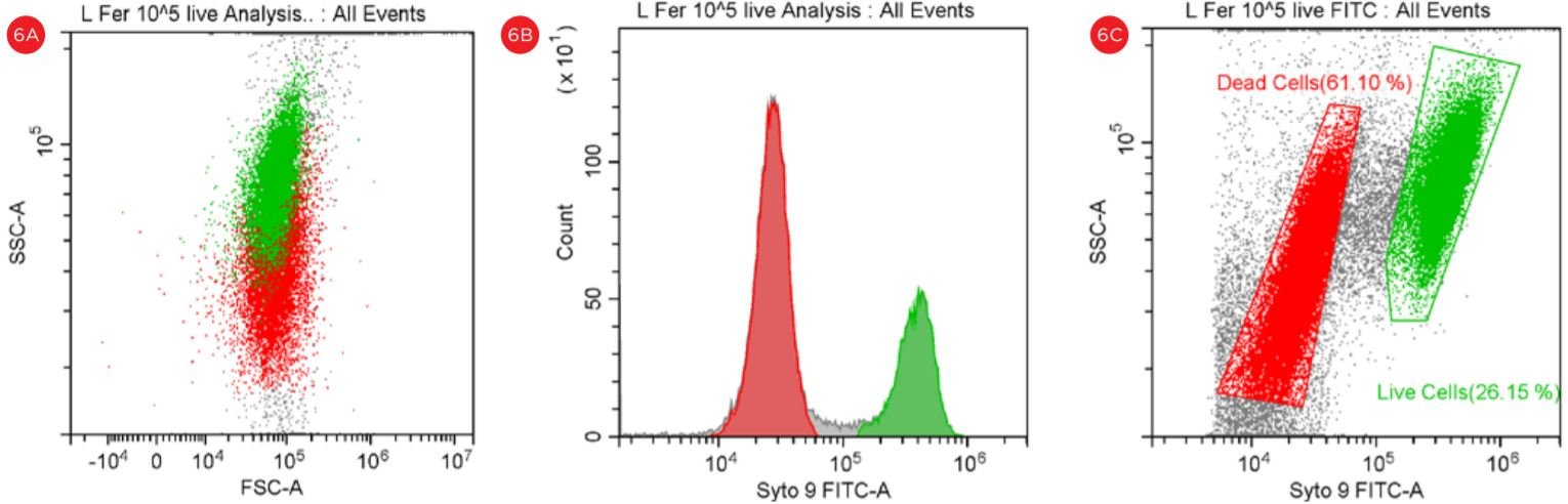 Figure 6 Gating Strategy for Live Dead L fermentum Analysis