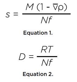 Equation 1 and 2