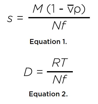 Ecuaciones 1 y 2