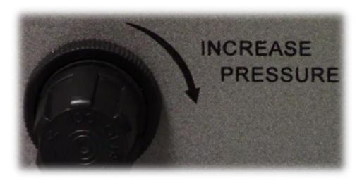 Figure 1 - Pressure settings