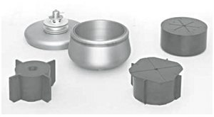 Figure 6: JCF-Z continuous flow rotor and cores..