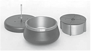 Figure 7: CF-32 Ti continuous flow rotor and core.