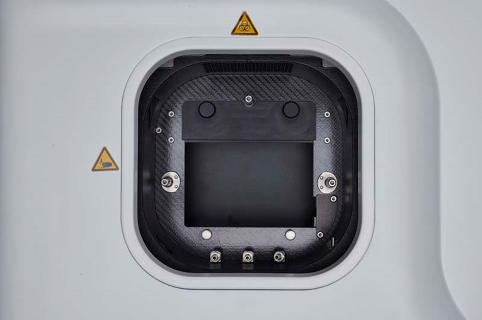 Position of the adapter plate in the 48-mode position