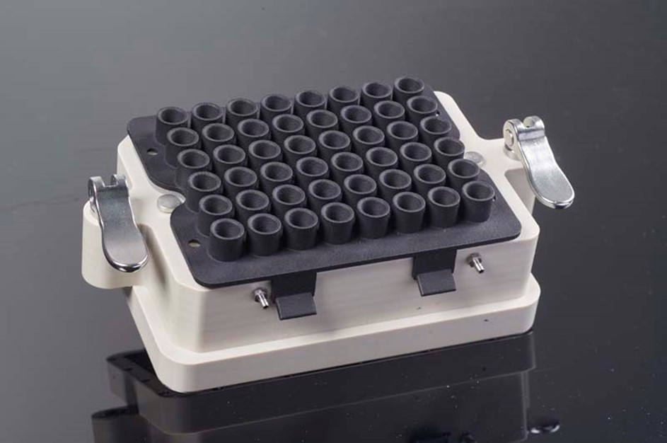 Gassing lid variant E-BDR48 for non-microfluidic experiment