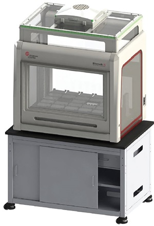 Figure 1. The i5 Multi-channel or i5 Span 8 platform with HEPA enclosure solutions to automate laborious, yet simple, liquid handling steps, such as trypsinization or cell media exchange, of your cell line development workflow process that require traceable and repeatable results in an efficient manner.