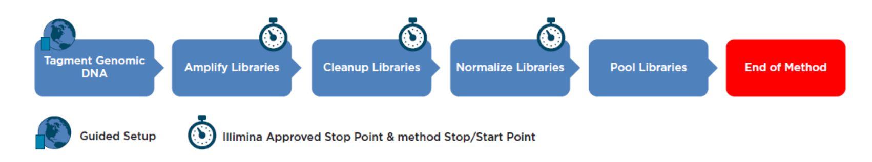 Illumina Nextera XT DNA Library Prep Kit workflow on the i7 NGS Workstation