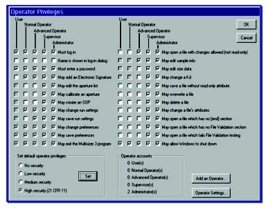 Multisizer software security