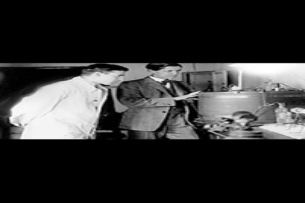 Сведберг с коллегой в 1926 году