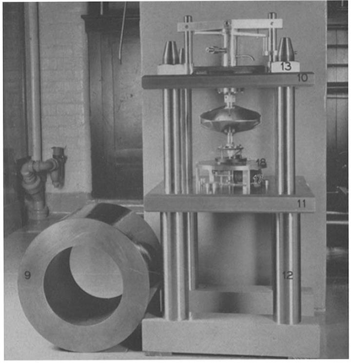 ピッケルの超遠心機の<br>バキュームチャンバーと駆動系
