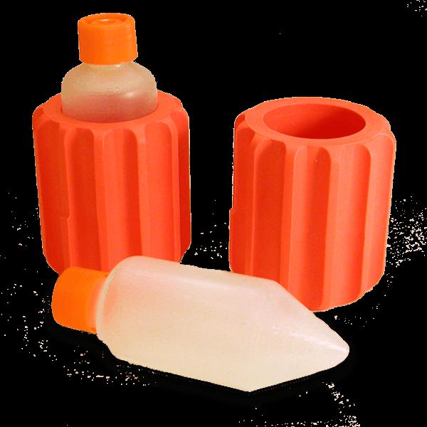 Оранжевый адаптер для центрифужных бутылей с коническим дном