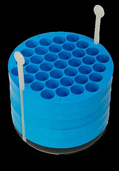 Синий адаптер для центрифужных пробирок
