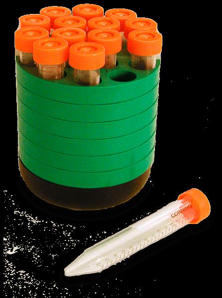Зеленый адаптер для центрифужных пробирок объемом 15 мл