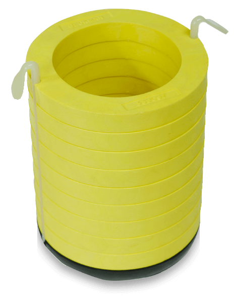 70mm Diameter Polypropylene Tube Adapter Assembly for Multi-Disc, Quantity of One