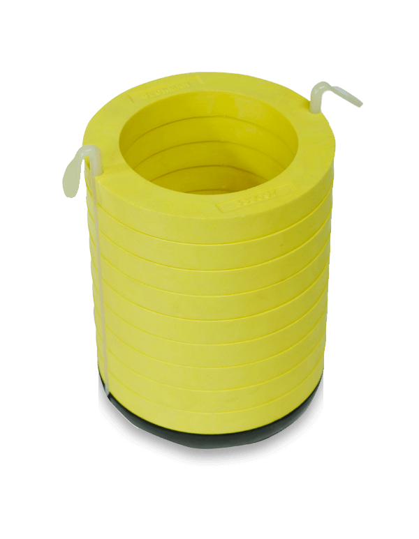 Желтый адаптер для стеклянных центрифужных пробирок