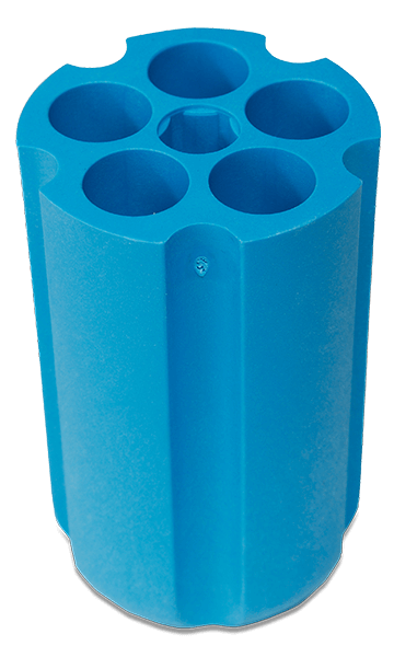 18mm Diameter Polypropylene Tube Round, Bottom Adapter—Quantity of One