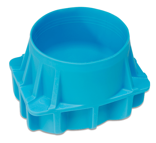 96 mm Diameter Polypropylene Conical Bottle Adapter, Quantity of Four