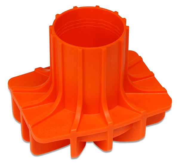 65mm Polypropylene Round-Bottom/Conical Bottle Adapter, Quantity of Four