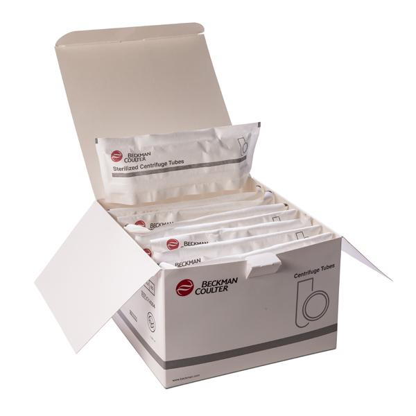 Коробка пробирок, упакованных в пакеты