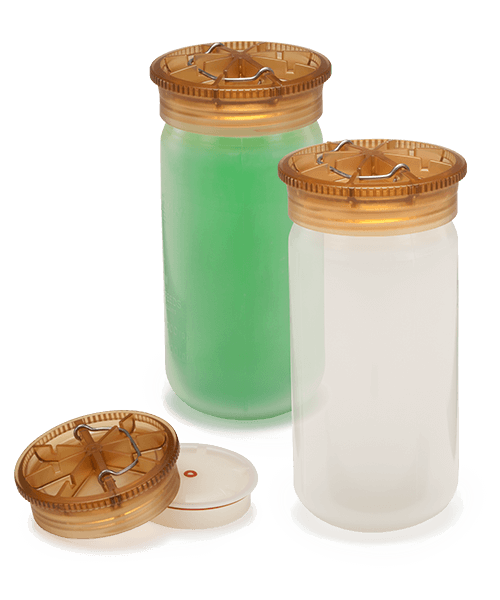 100 mL, Polypropylene Bottle with Screw-On Cap, 38 x 102mm - 6Pk