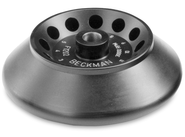 F1202 Fixed-Angle Aluminum Rotor 12x2.0 mL, 30,000 rpm, 64,400 x g