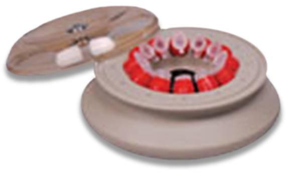 FX121.5P Fixed-Angle Polypropylene Rotor with Snap-on Lid- 12 x 1.5/2.2 mL, 14,800 rpm, 15,183 x g