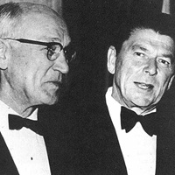 Arnold Beckman with Governor Ronald Reagan