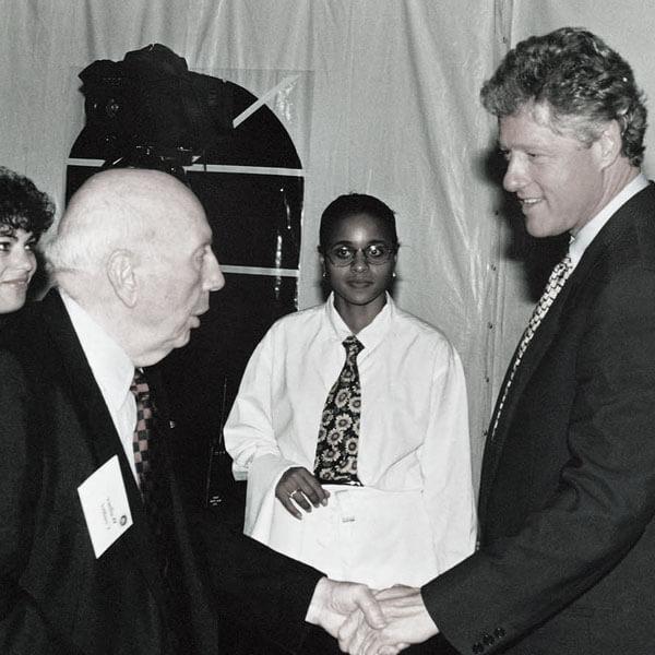 Wallace Coulter Presidente Clinton
