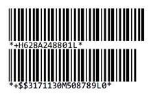 Código de barras HIBC lineal