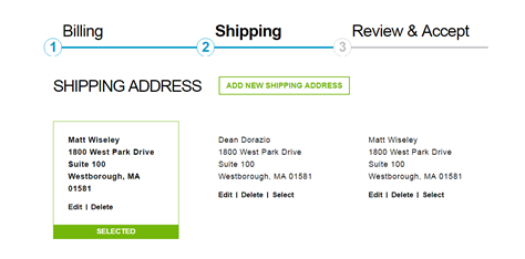 Checkout Billing Shipping Address
