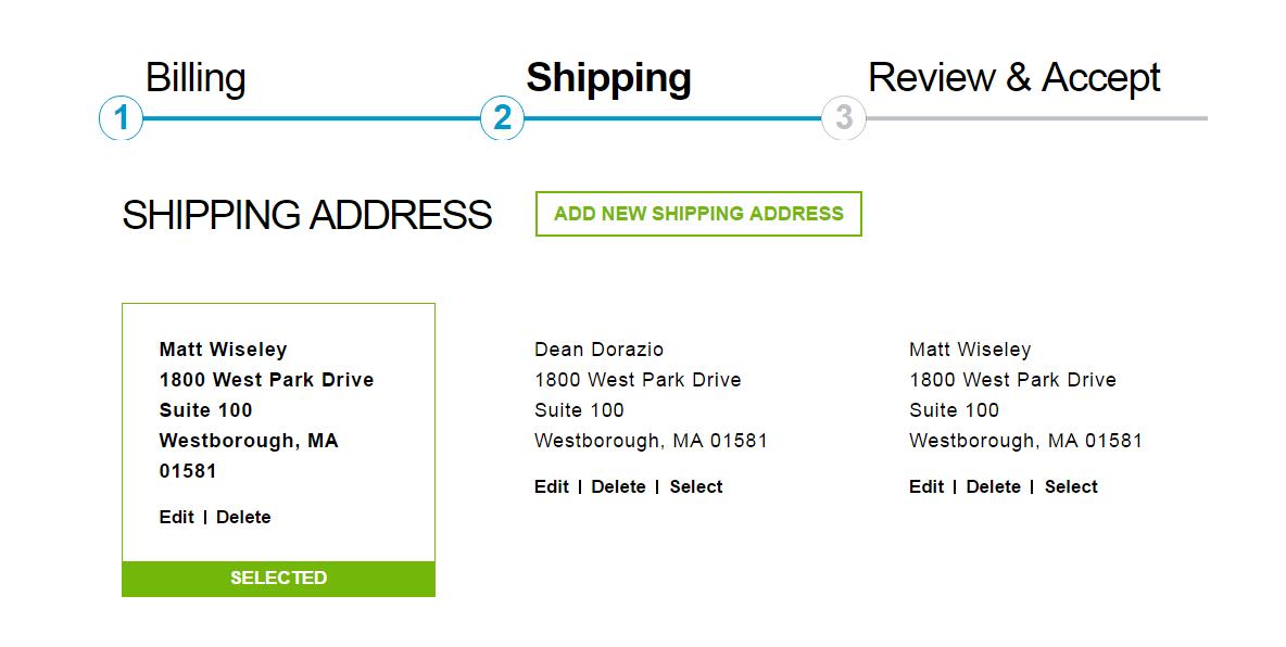 Checkout Billing Shipping Address