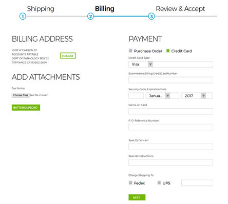 Checkout Payment Details