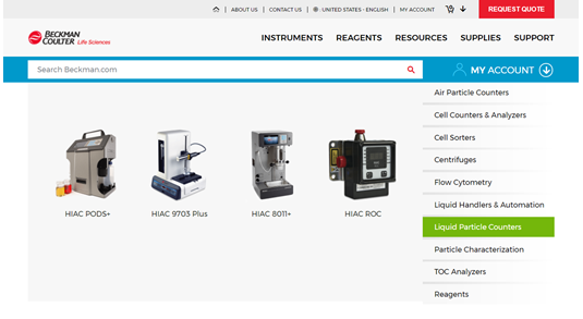 Discover life sciences products through our new search carousel at beckman.com