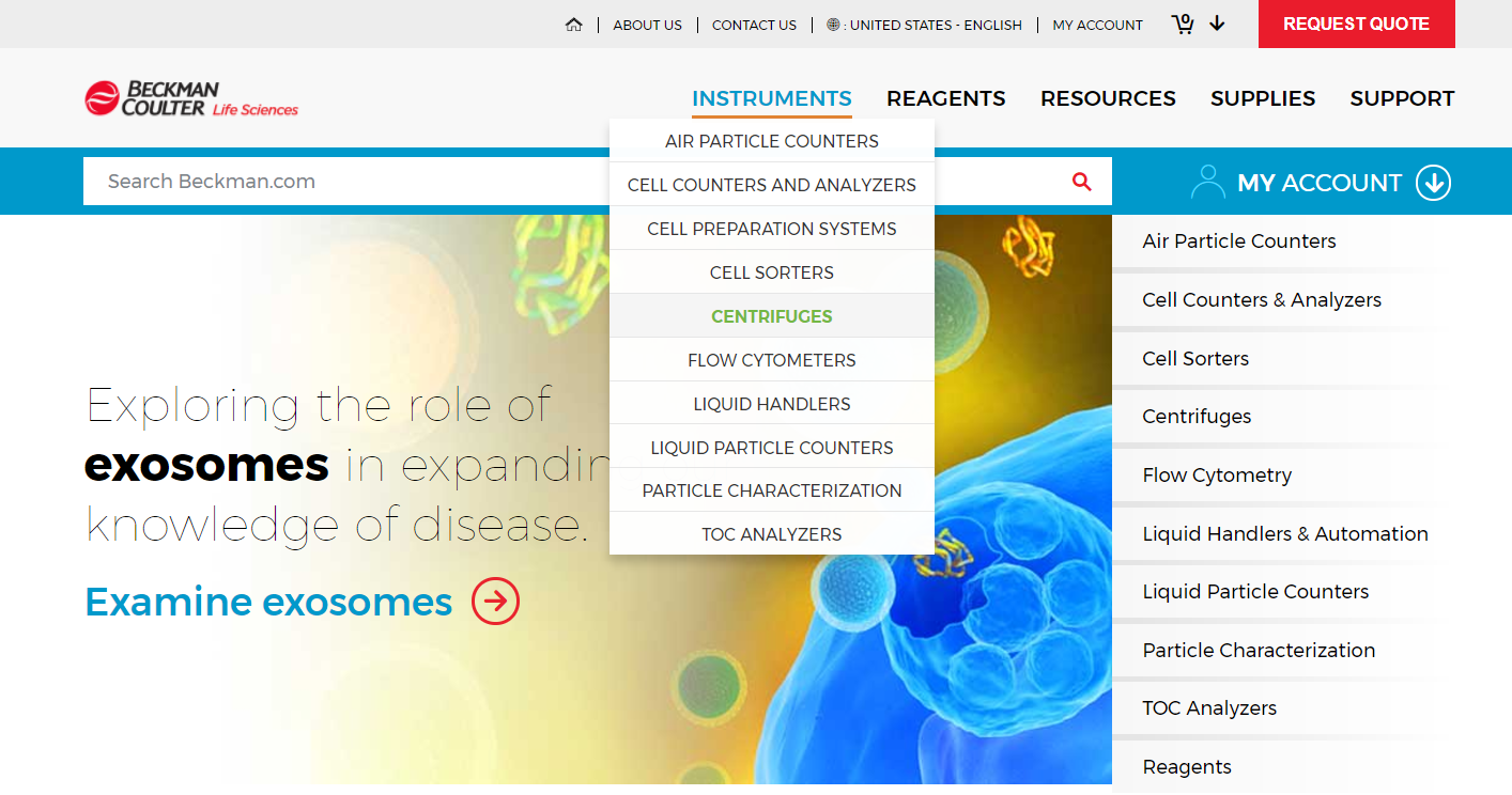 Discover life sciences products through our improved site navigation at beckman.com