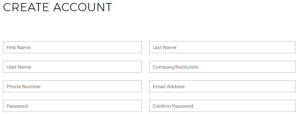 My Account Registration Fields