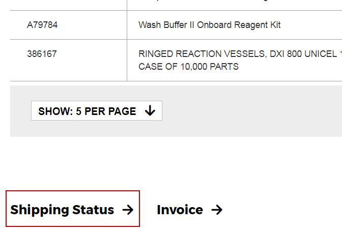 My Order Shipping Status