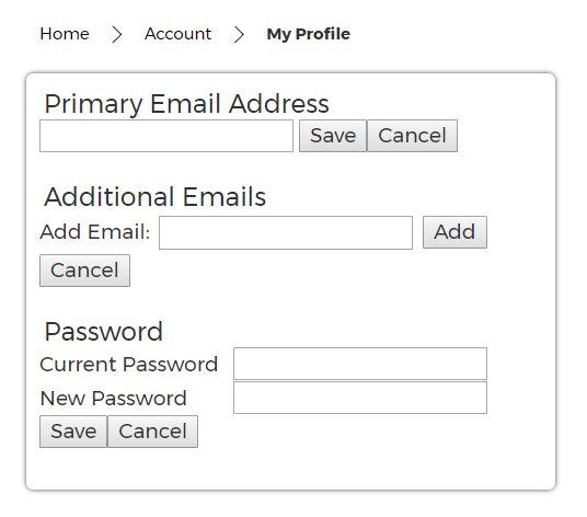 Update Your Profile Email and Password