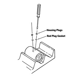 Analytical cell housing plugs and gaskets with AUC