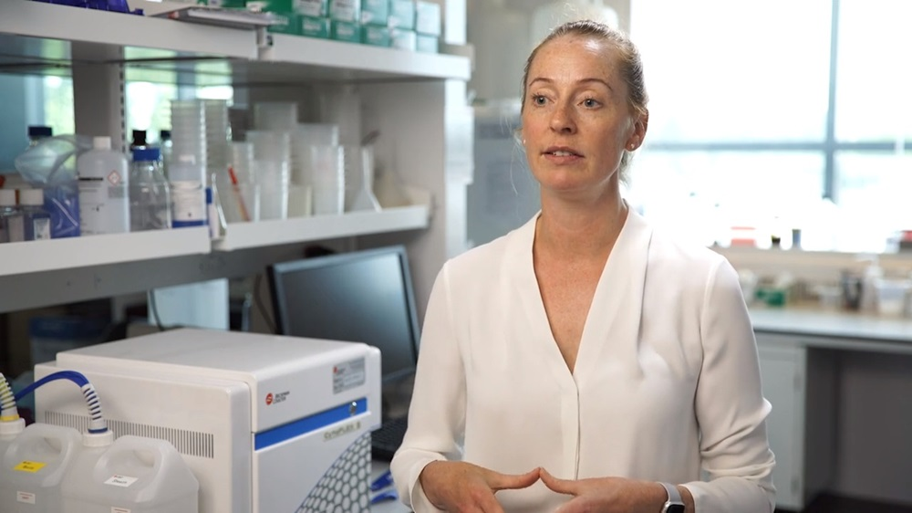 Dr. Williams in Lab next to CytoFLEX