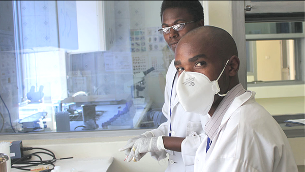 CARES Initiative Two men in lab