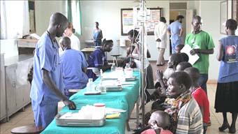 HIV patients receiving treatment