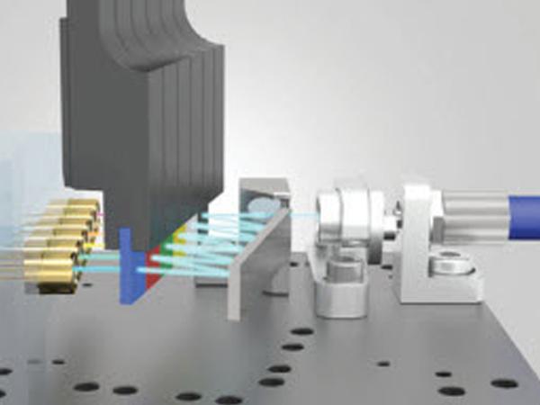 Схема устройства спектрального мультиплексирования (WDM) CytoFLEX