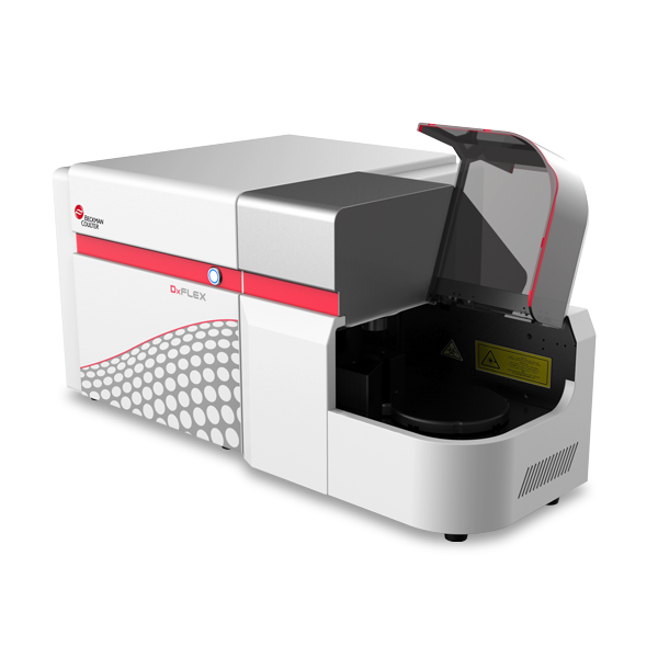 DxFLEX flow cytometer with autoloader with cover opened